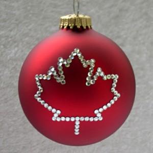 Christmas bulb with Canadian maple leaf