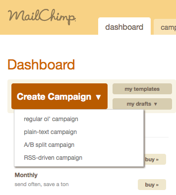 MailChimp1 HOW TO: Feed Your Blog Posts to Your MailChimp List